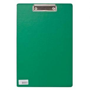 """Доска-планшет BRAUBERG """"Comfort"""", с верхним прижимом, А4, 23х35 см, картон/ПВХ, Россия, зеленая, 222663"""