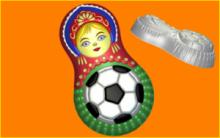 Форма для мыла Матрешка Футбол