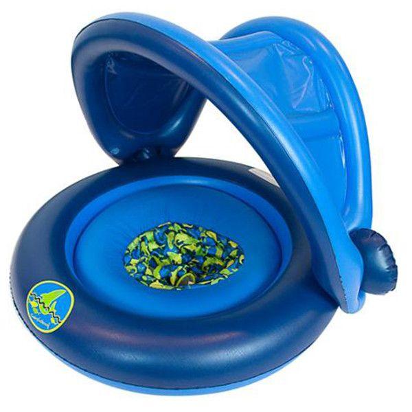 Универсальный надувной круг с навесом 2-In-1 Baby Boat (Цвет: Голубой)