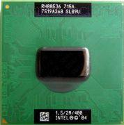 Процессор мобильный Intel Pentium M715A (SL89U) - 478, 90 нм, 1 ядра/1 потока, 1.5 GHz