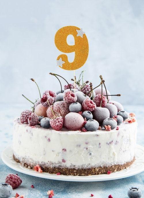 """Топпер для торта """"9"""", цвет золотой"""