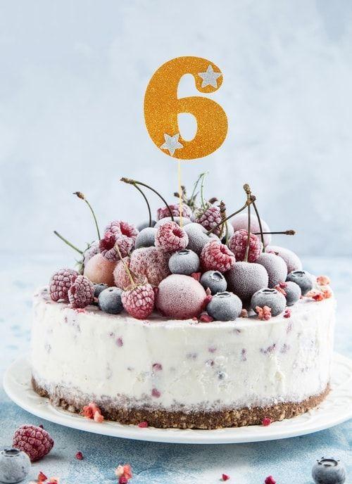 """Топпер для торта """"6"""", цвет золото"""