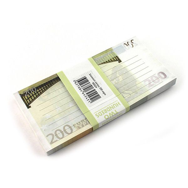 Блокнот Пачка 200 евро