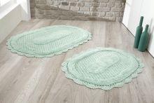 Комплект ковриков для ванной LOKAL 60x100 + 50x70 (ментол) Арт.5097-5
