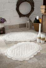 Комплект ковриков для ванной MERIT 45x60 + 50x80(кремовый) Арт.5098-3
