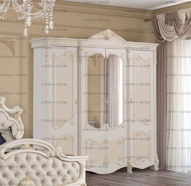 Шкаф 4-х дверный Рафаэлла Диа Мебель (230,5х83х211)