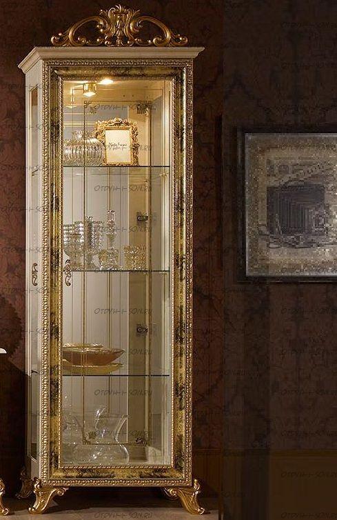 Шкаф-витрина 1-дверный Катя Диа Мебель К.35.03.00 (76х48х217,2)