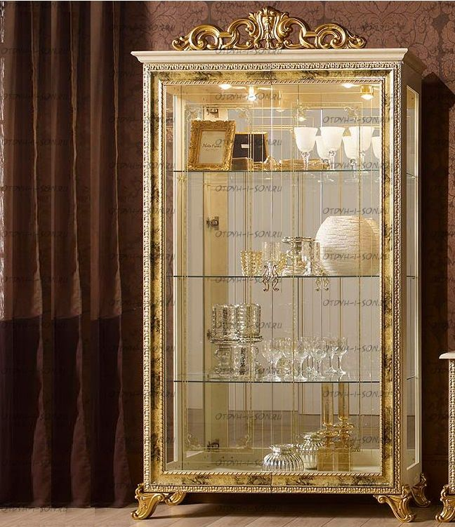 Шкаф-витрина 2-дверный Катя Диа Мебель К.35.02.00  (94х40х225)