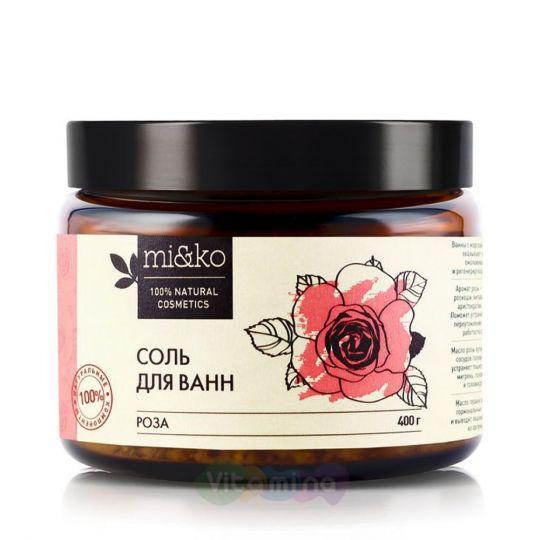 Mi&Ko Соль для ванн Роза, 400 гр