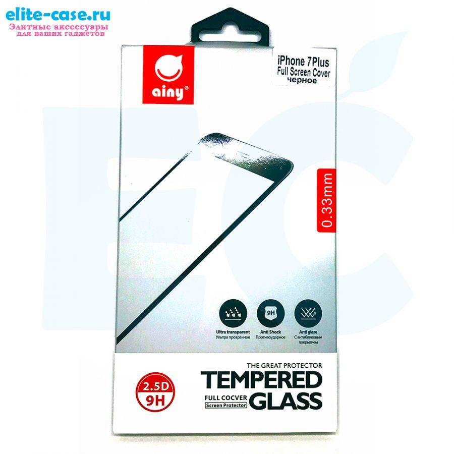 Защитное стекло Ainy Full Screen Cover для Apple iPhone 8 Plus черное 0.33mm