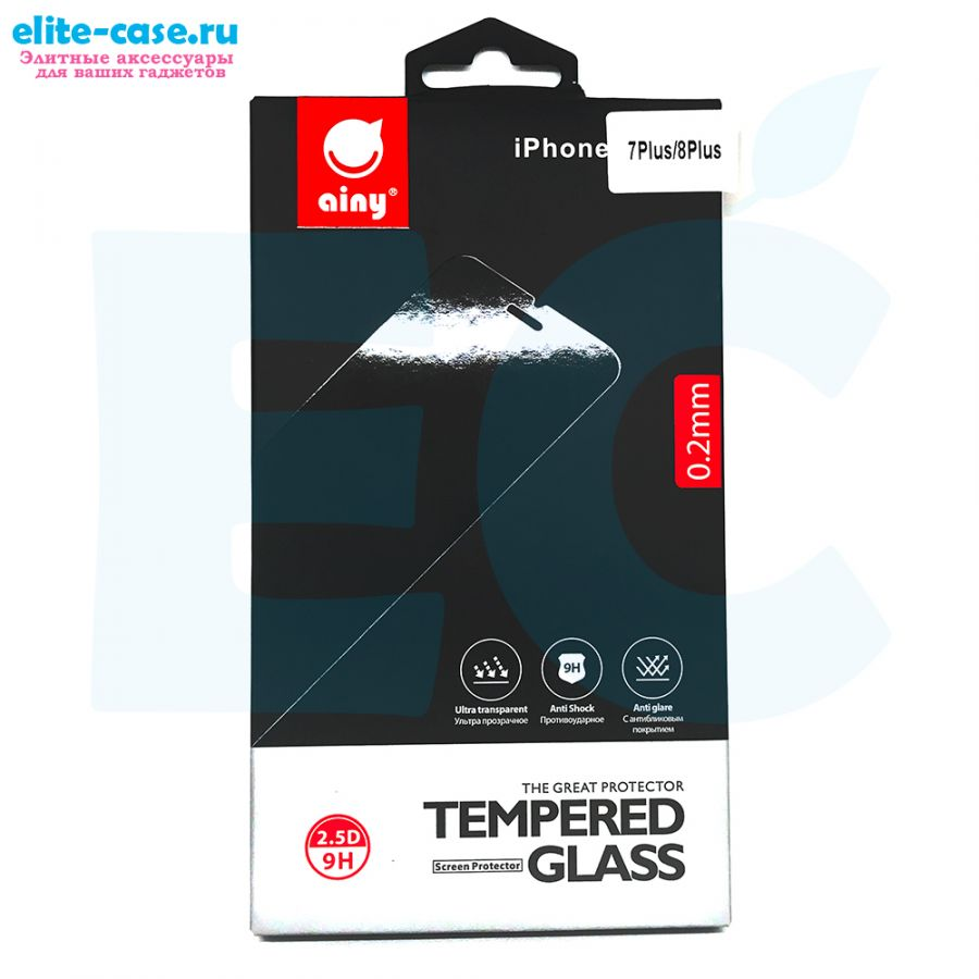 Защитное стекло Ainy GLASS для Apple iPhone 7 Plus 0.2mm
