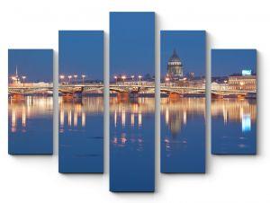 Модульная картина Санкт-Петербург во всей красе