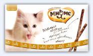 Мнямс Лакомые палочки для кошек с цыпленком и уткой (10х5 г)