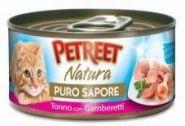 Petreet Кусочки тунца с креветками в рыбном супе (70 г)