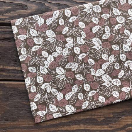 Ткань с листиками