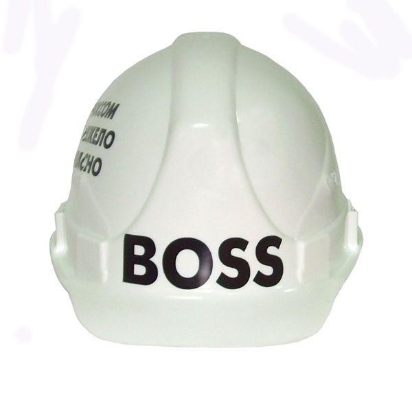 Каска строительная BOSS белая Eng