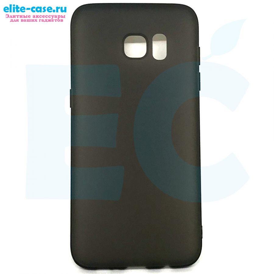 Чехол силиконовый для Samsung S7 Edge черный