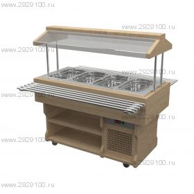 Салат-бар охлаждаемый WoodLine ПО-127/3GN/W