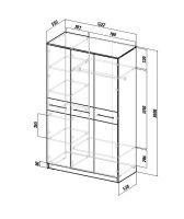 Шкаф распашной Ланс-3