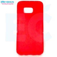Чехол Cherry силиконовый для Samsung S7 Edge красный