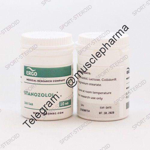 ERGO STANAZOLOL (СТАНОЗОЛОЛ). 100 таб. по 10 мг.