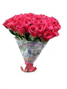 Роза Фридом 60 см. Стразик