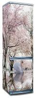 Наклейка на холодильник -  Лебединое озеро | магазин Интерьерные наклейки