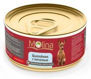 Molina Цыпленок с печенью в соусе для собак (85 г)