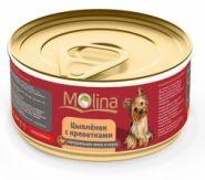 Molina Цыпленок с креветками в соусе для собак (85 г)