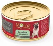 Molina Цыпленок с ветчиной в соусе для собак (85 г)