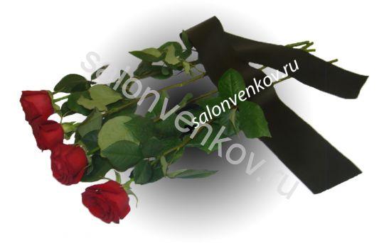 Роза красная, 60см