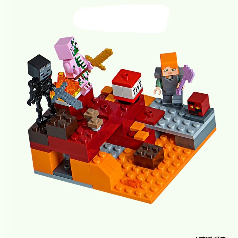 """Lepin CubeWorld""""Бой в подземелье"""" 94 деталей No.18034"""