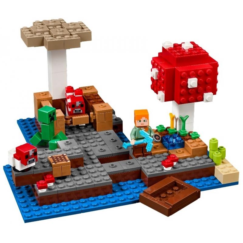"""Lepin CubeWorld""""Грибной остров"""" 265 деталей No.18023"""