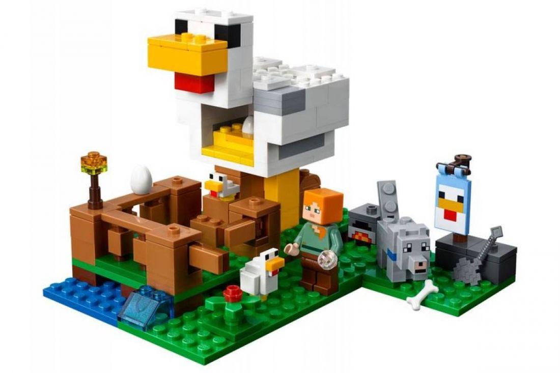 "Lepin CubeWorld""Курятник"" 222 деталей No.18035"