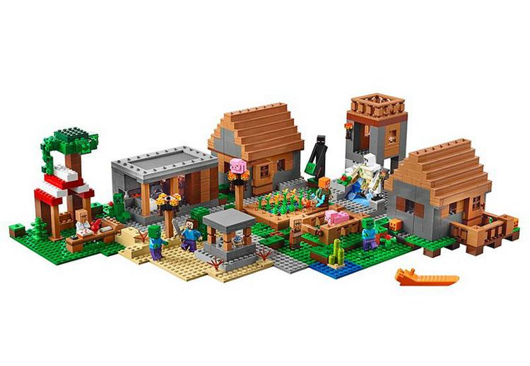 "Lepin Minecraft""Большая деревня"" 1673 деталей No.18008"