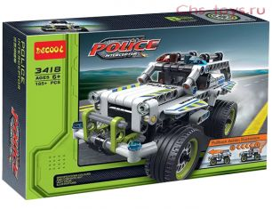 Конструктор Decool Police Interceptor Полицейский патруль 3418 (Аналог LEGO Technic 42047) 185 дет
