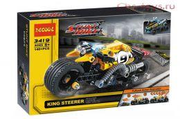 Конструктор Decool Stunt Bike Мотоцикл для трюков 3419 (Аналог LEGO Technic 42058) 140 дет