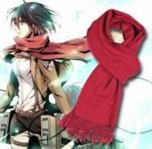 Шарф Микасы по аниме Атака Титанов / Attack on Titan Mikasa anime scarf