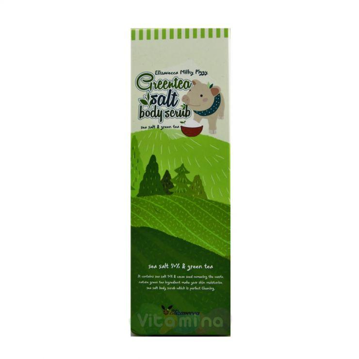 Elizavecca Скраб для тела с экстрактом зеленого чая Greentea salt Body scrub, 300 гр