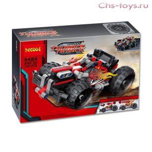 Конструктор Decool Thunder Whack Красный гоночный автомобиль 3422 (Аналог LEGO Technic 42073) 139 дет