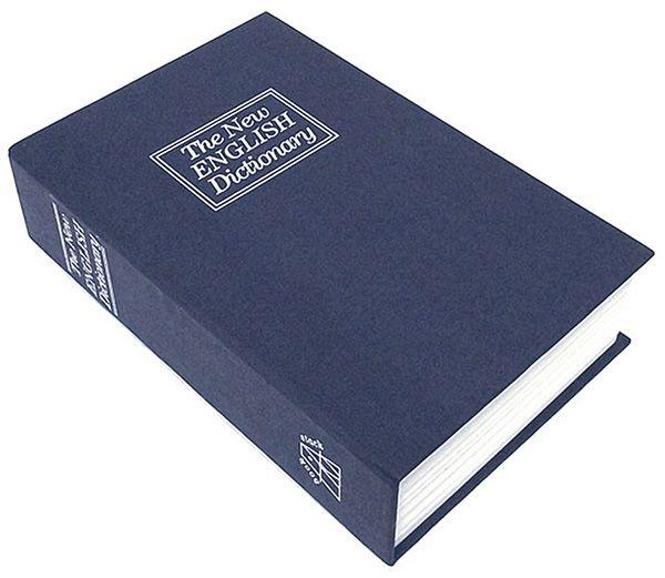 Книга сейф Английский словарь 24 см Синий