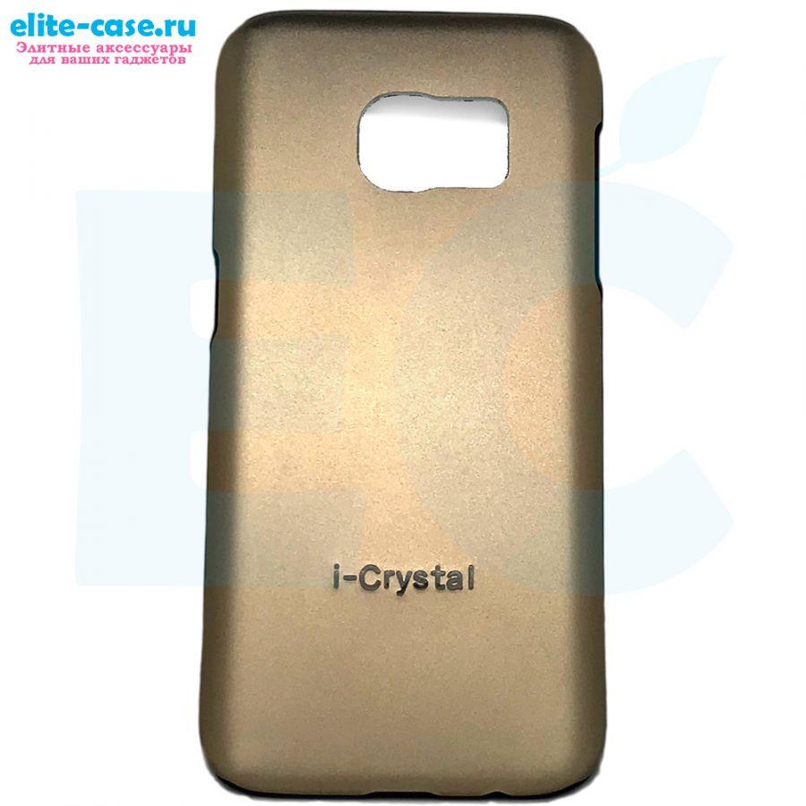 Чехол i-Cristal для Samsung S7 золотой
