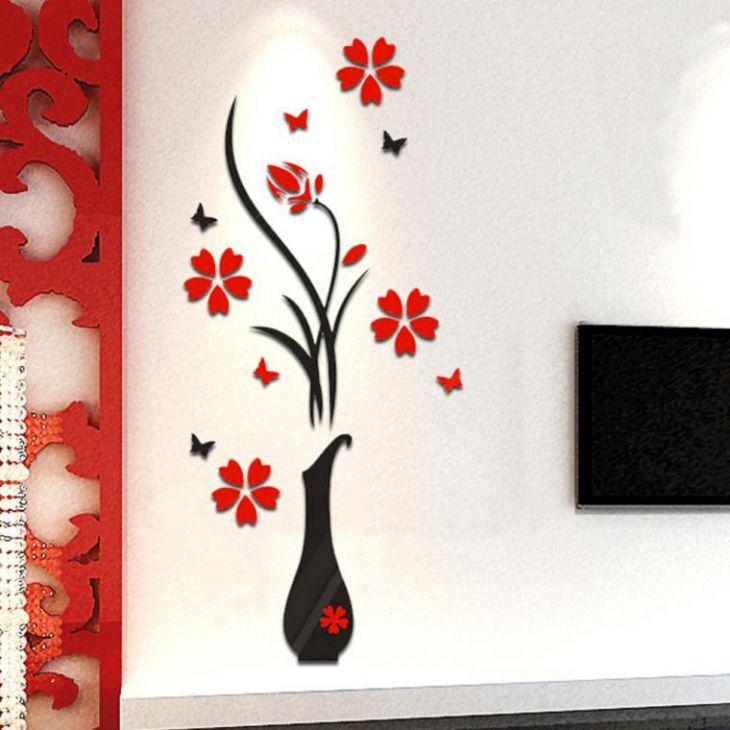 Интерьерная ваза 3D с цветком