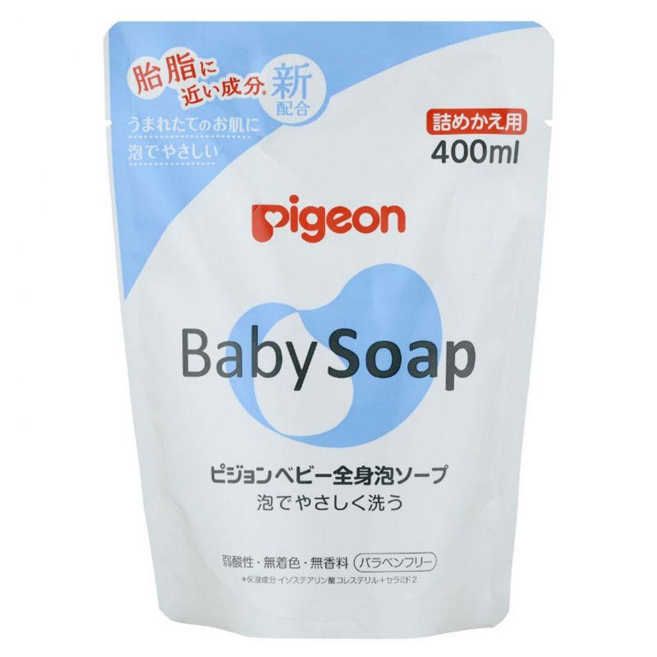 Мыло-пенка для младенцев PIGEON сменный блок 400 мл.