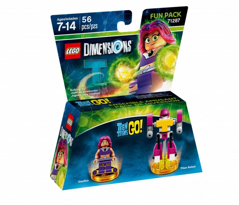 Lego Dimensions 71287 Fun Pack : Starfire,Titan Robot (Teen Titan Go!)