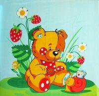 """Детское махровое полотенце """"Забавный мишка"""" рис.1053"""