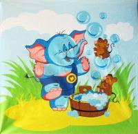 """Детское махровое полотенце """"Забавный слоник"""" рис.1052"""