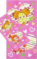 """Детское махровое полотенце """"Фиксики. Симка и Шпуля"""" рис.1077"""