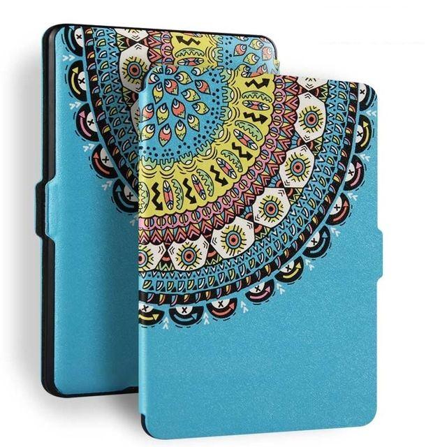 Чехол-обложка  для Amazon Kindle Paperwhite (Голубой тотем)