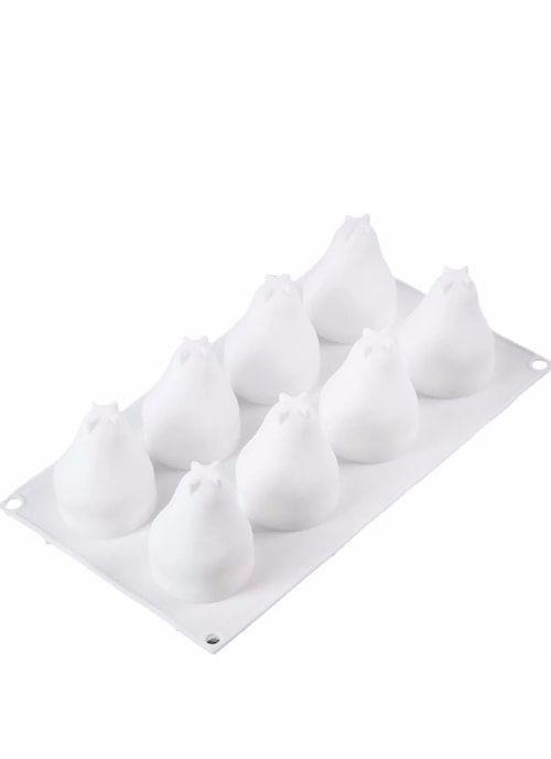 """Форма для выпечки и муссовых десертов, 8 ячеек, 29,3х17,2х6,5 см """"Груша"""""""